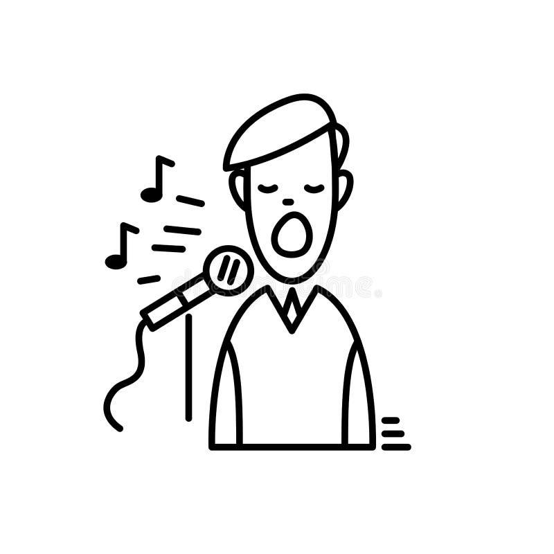 Kreskowe ikony - karaoke Partyjny świętowanie urodziny, wakacje, boże narodzenia i nowy rok, royalty ilustracja
