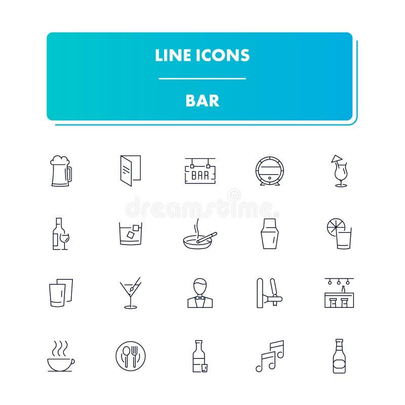 Kreskowe ikony ustawiać bar ilustracji
