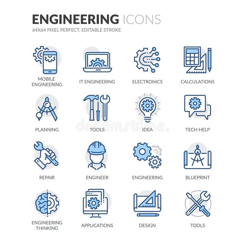 Kreskowe inżynierii ikony