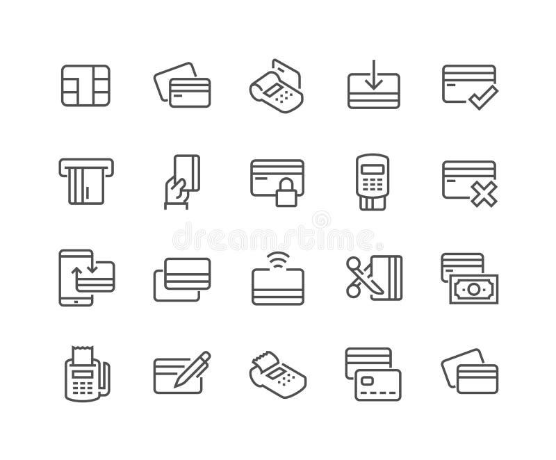 Kreskowe Kredytowej karty ikony ilustracji