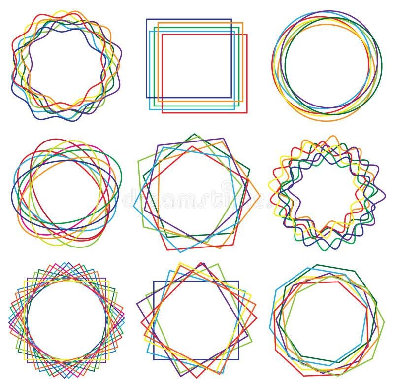 Kreskowego kształta sztuki rama ustawia 02 royalty ilustracja
