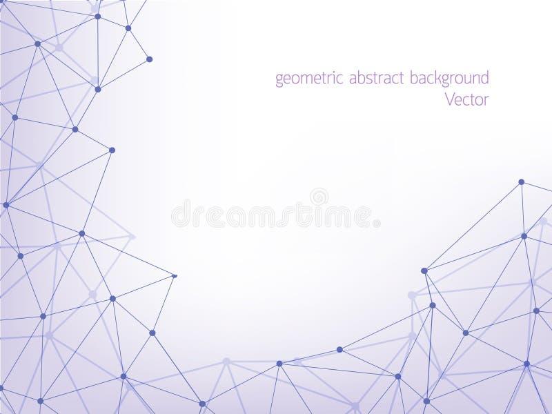 Kreskowego wieloboka geometryczny abstrakcjonistyczny tło ilustracja wektor