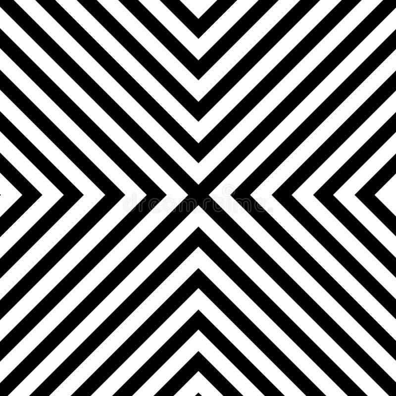 Kreskowego zygzag x szewronu deseniowy tło ilustracja wektor