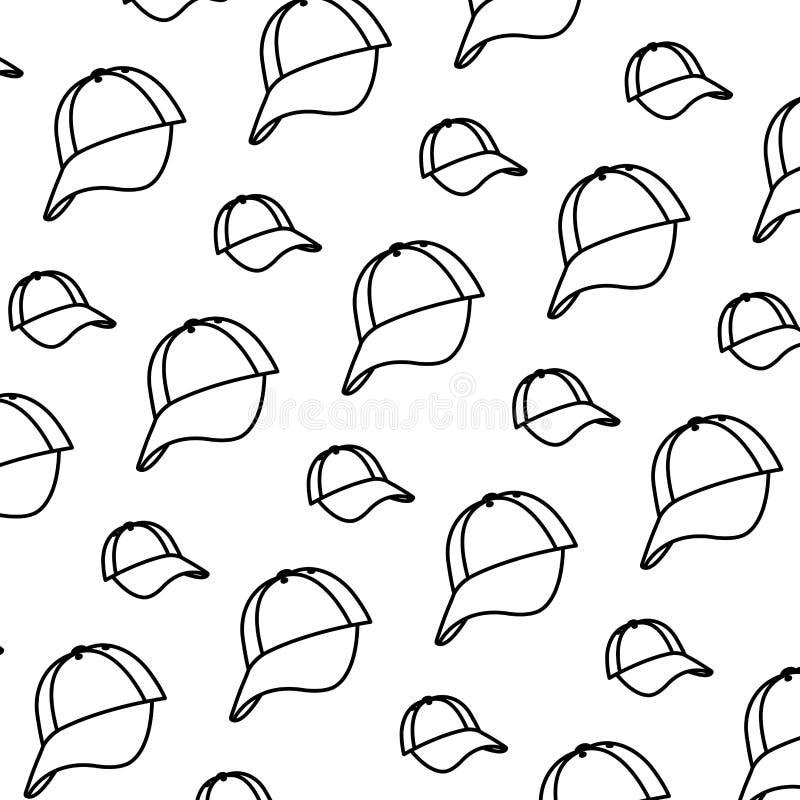 Kreskowej nakrętki przypadkowy tekstylny akcesoryjny tło ilustracja wektor