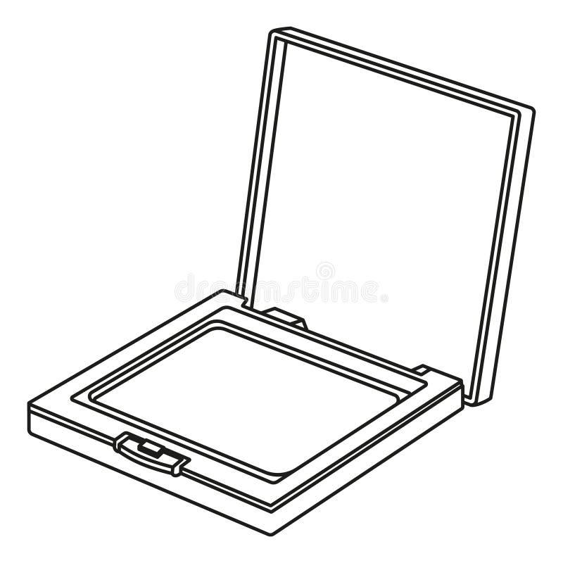 Kreskowej sztuki blusher czarny i biały ścisły proszek ilustracja wektor