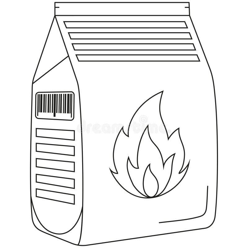 Kreskowej sztuki czarny i biały węglowa torba ilustracji