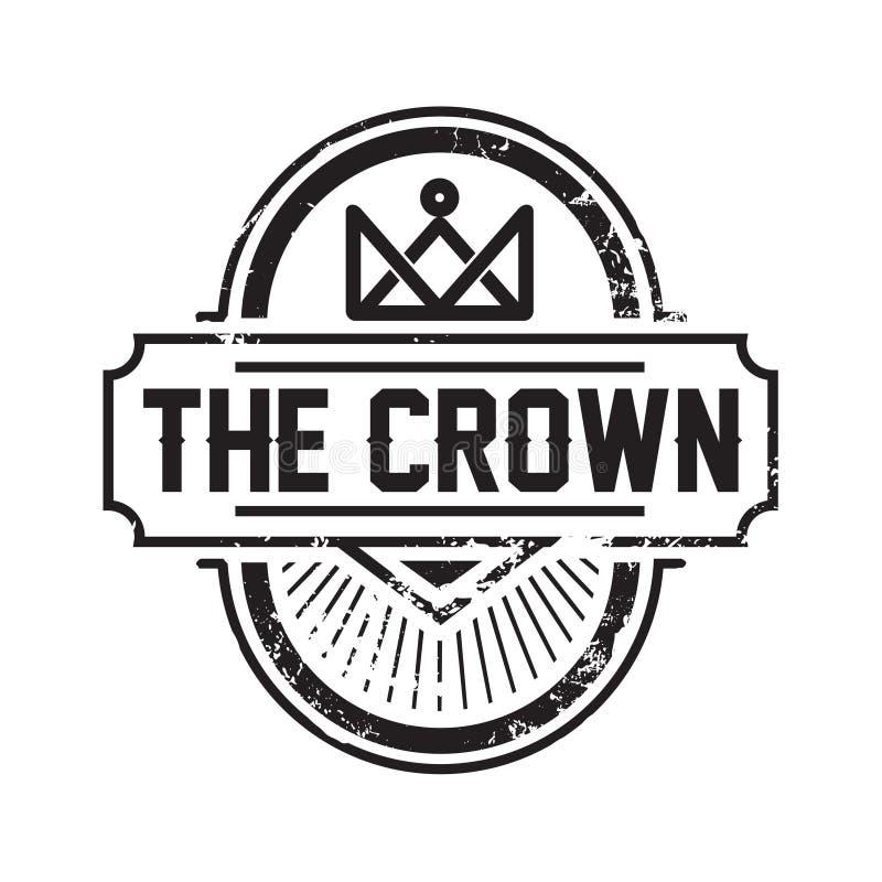 Kreskowej sztuki korona, Królewska logo projekta wektoru ilustracja/ ilustracji
