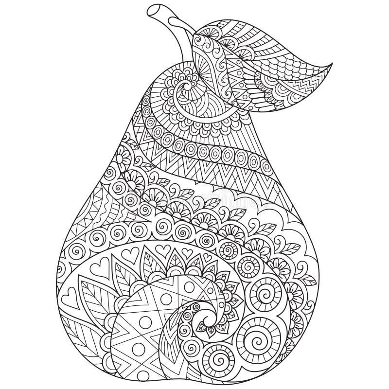 Kreskowej sztuki rysunek bonkreta z editable uderzenie szerokością dla drukować dalej faszeruje i dorosła kolorystyki książka lub ilustracja wektor