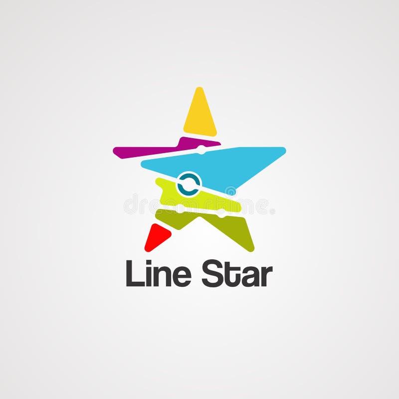 Kreskowy gwiazdowy logo wektor, ikona, element i szablon, ilustracja wektor