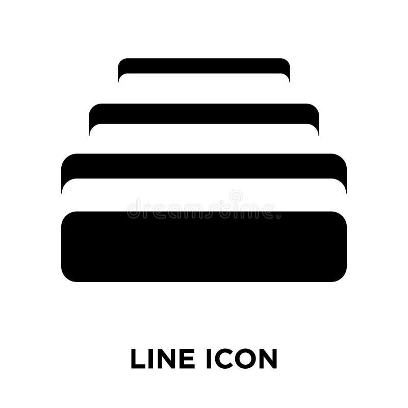Kreskowy ikona wektor odizolowywający na białym tle, loga L pojęcie ilustracji