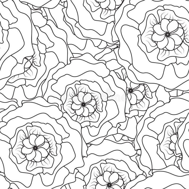 Kreskowy kwiatu wzoru bielu przepływ royalty ilustracja