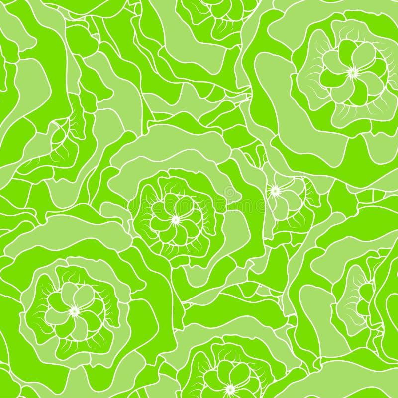 Kreskowy kwiatu wzoru natury przepływ ilustracji
