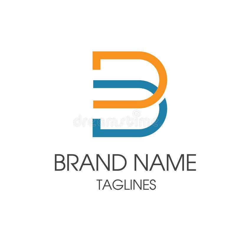 Kreskowy listowy b logo ilustracji