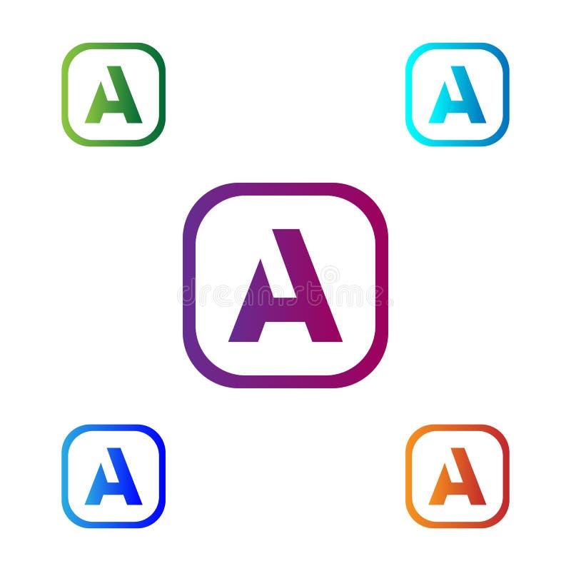 Kreskowy listu A logotyp Abstrakcjonistyczny poruszający powiewny logo ikony projekt, gotowego symbolu wektoru kreatywnie znak ilustracja wektor