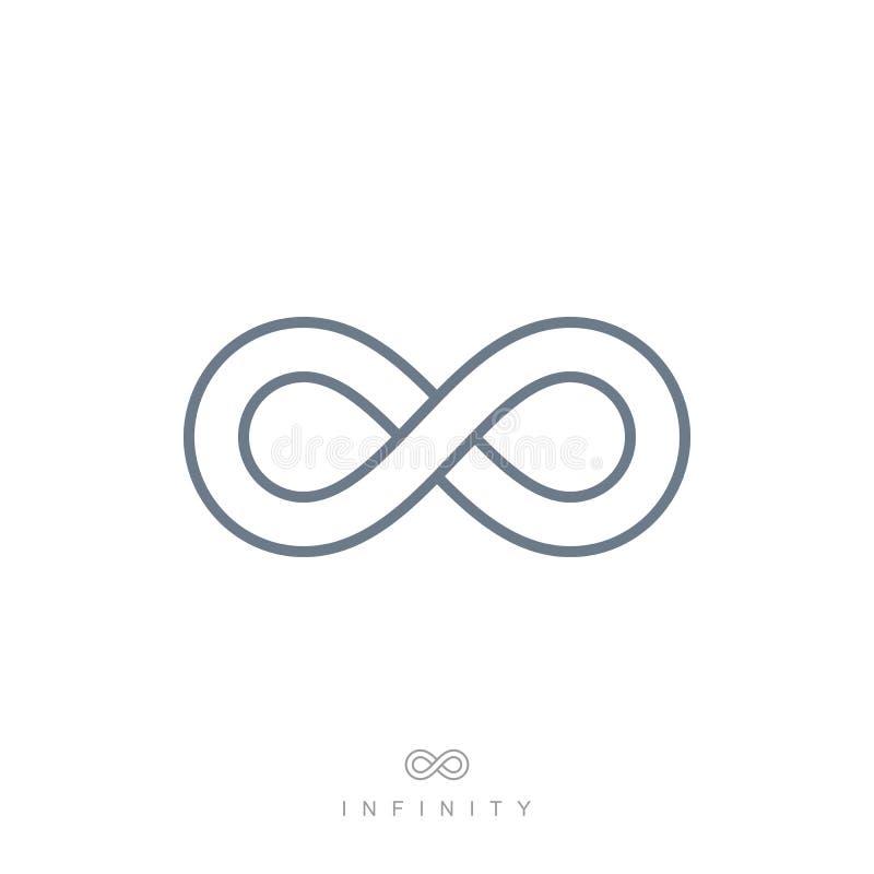 Kreskowy nieskończoność symbol, liniowa nieskończona ikona ilustracja wektor