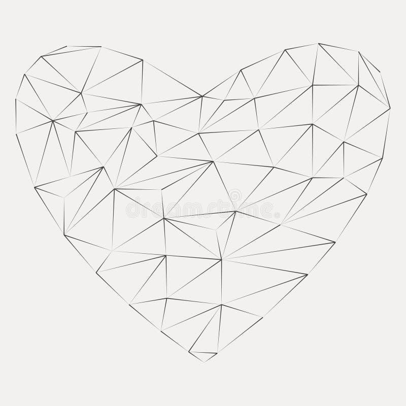 Kreskowy origami serca logo royalty ilustracja