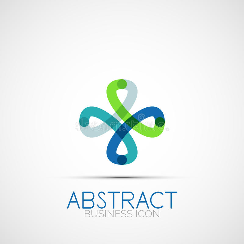 Kreskowy projekt pętli logo ilustracja wektor
