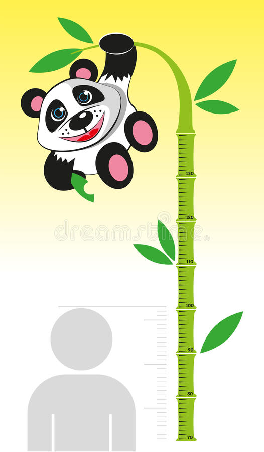 Kreskowy przyrost dla dzieci ilustracja wektor