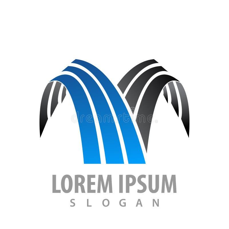 Kreskowy siklawa logo pojęcia projekt Symbolu szablonu elementu graficzny wektor ilustracji