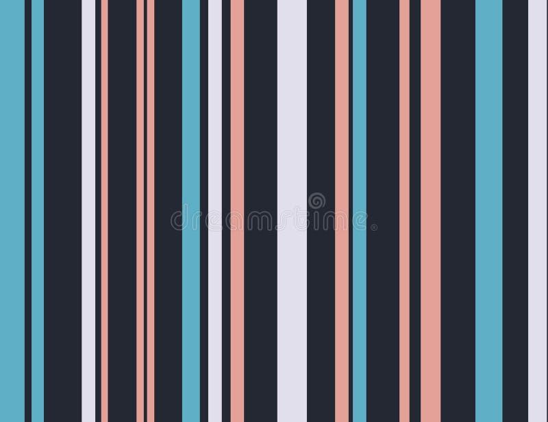 Kreskowy wzór lampasami tło bezszwowy wektora Kolorowa retro anv rocznika tekstura Graficzny nowożytny wzór ilustracja wektor