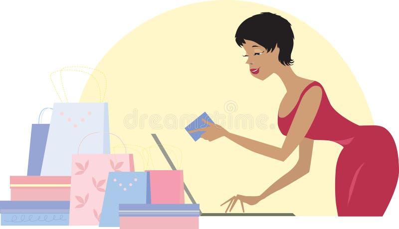 kreskowy zakupy ilustracja wektor