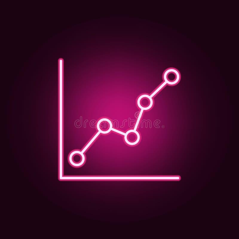 kreskowych statystyk neonowa ikona Elementy online i sie? set Prosta ikona dla stron internetowych, sie? projekt, mobilny app, ew ilustracji