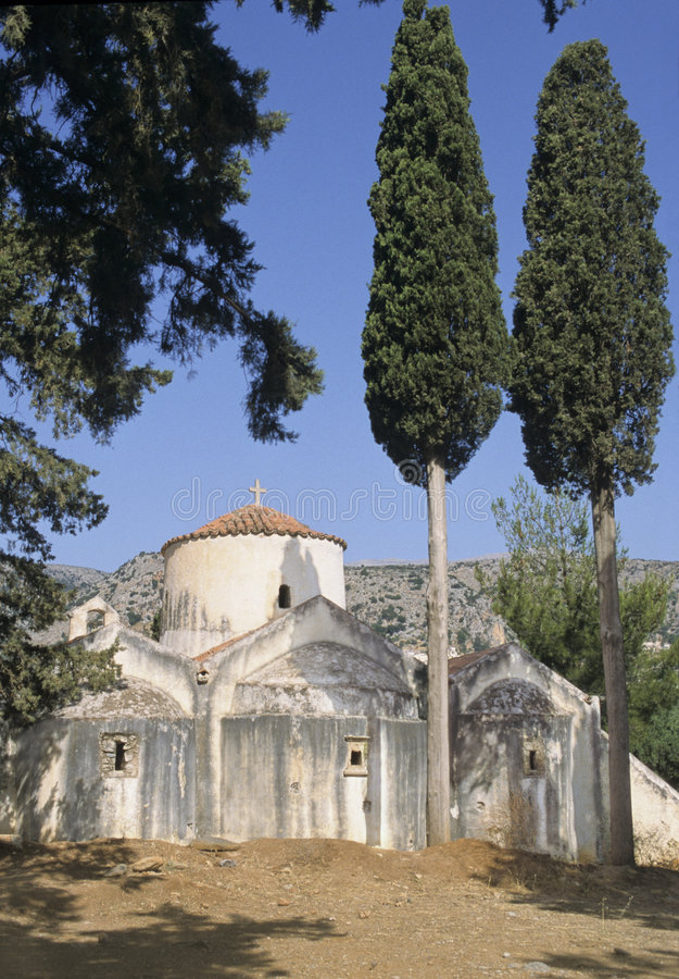Kreta-Kirche lizenzfreies stockbild