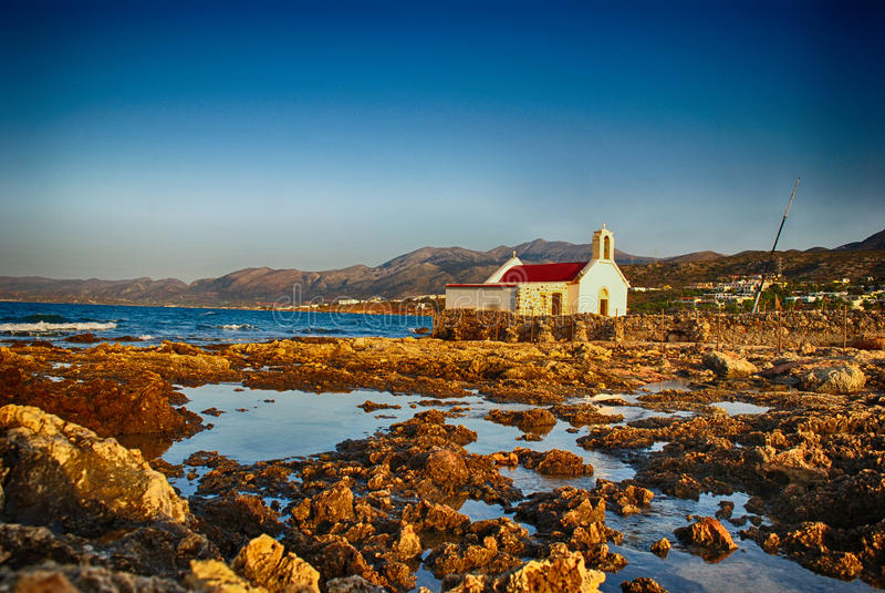 Kreta-Kirche. lizenzfreie stockbilder