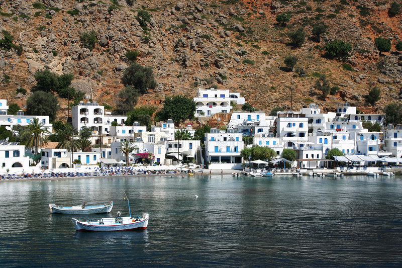 Kreta/Loutro stock foto's