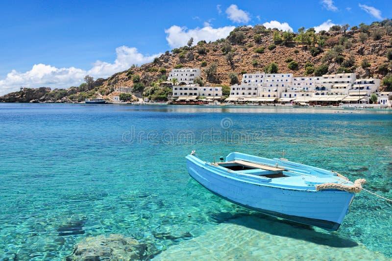 Kreta, Loutro stock afbeeldingen