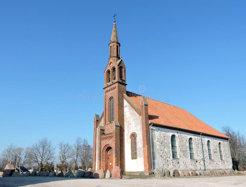 Kretingales kyrka, Litauen arkivbild
