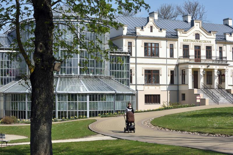 Kretingamuseum, Litouwen stock fotografie