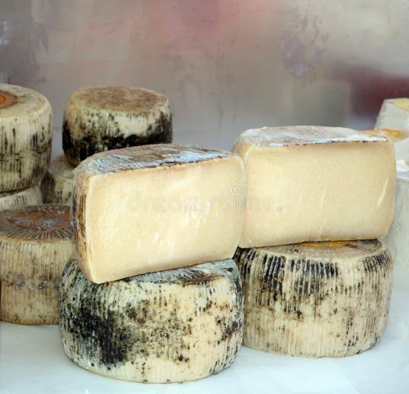 Kretische Käse am Markt stockfotos