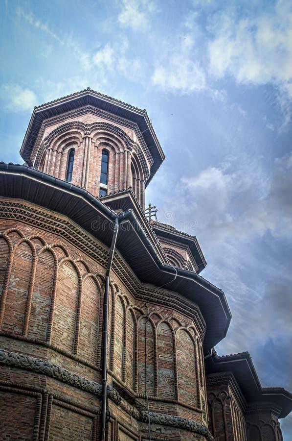 Kretzulescu kyrka, Bucharest, Rumänien royaltyfri fotografi
