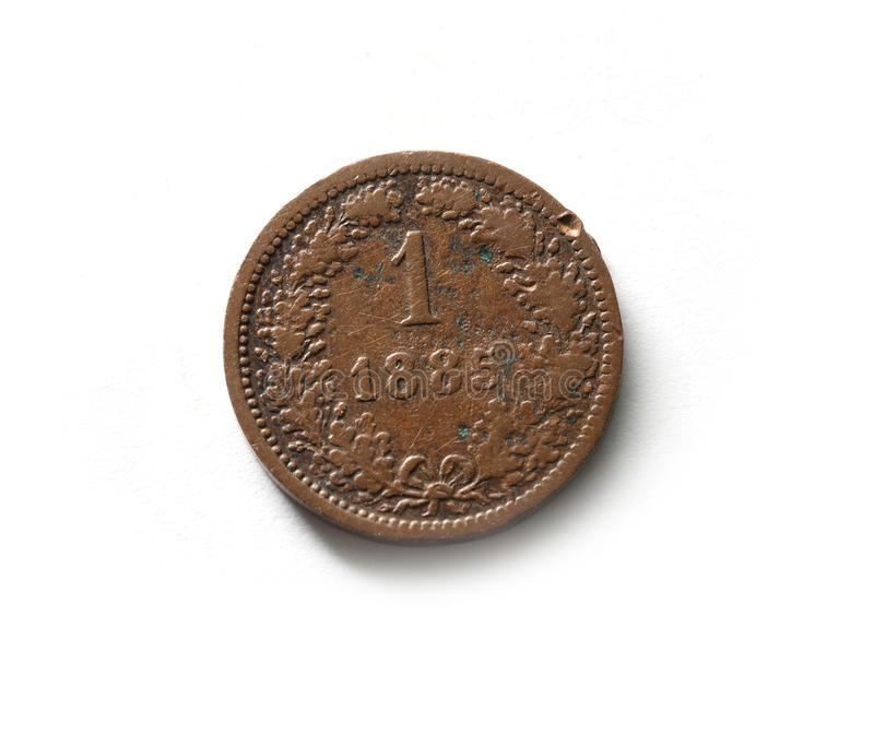 Kreutzer. Old Coin Austro-Hungarian state royalty free stock photography