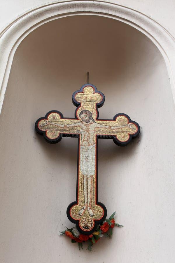 Kreuz der Kirche der Heiliger Cyril und Methodius stockbilder