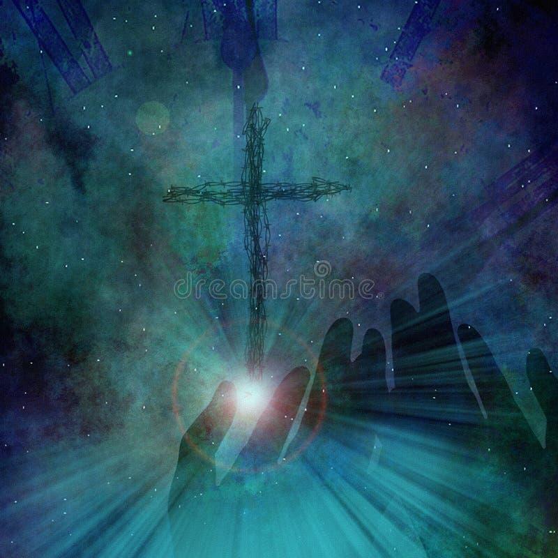 Kreuz in der Zeit vektor abbildung