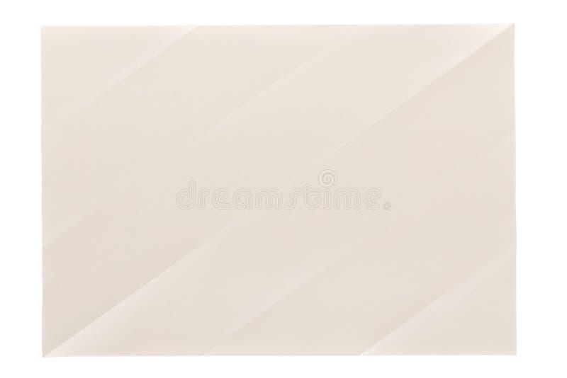 Kreuz gefaltete Lehmseite lizenzfreie abbildung