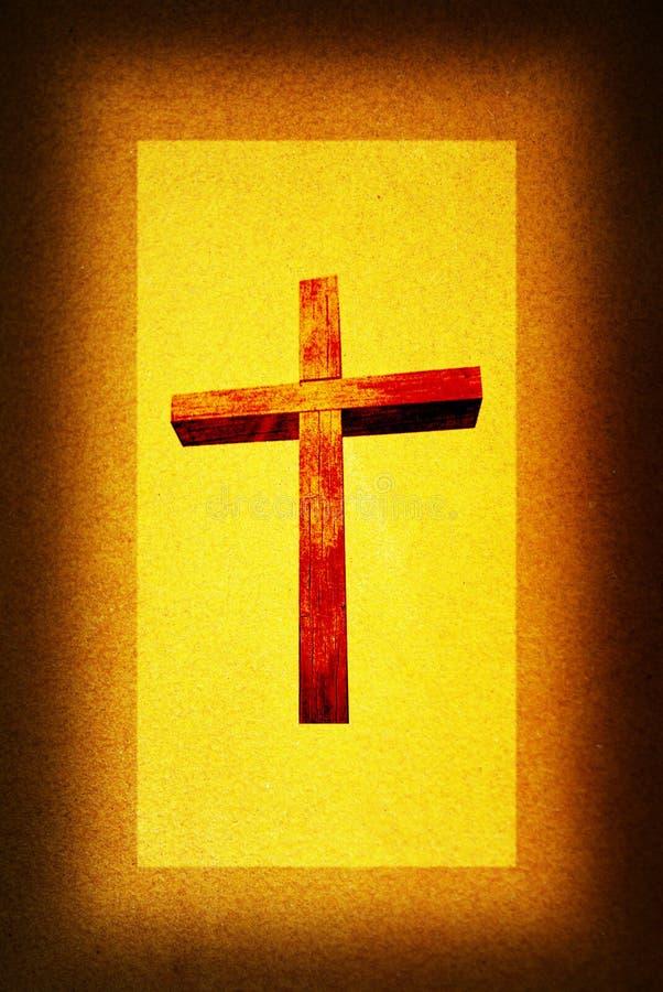 Kreuz im hellen Hintergrund stock abbildung