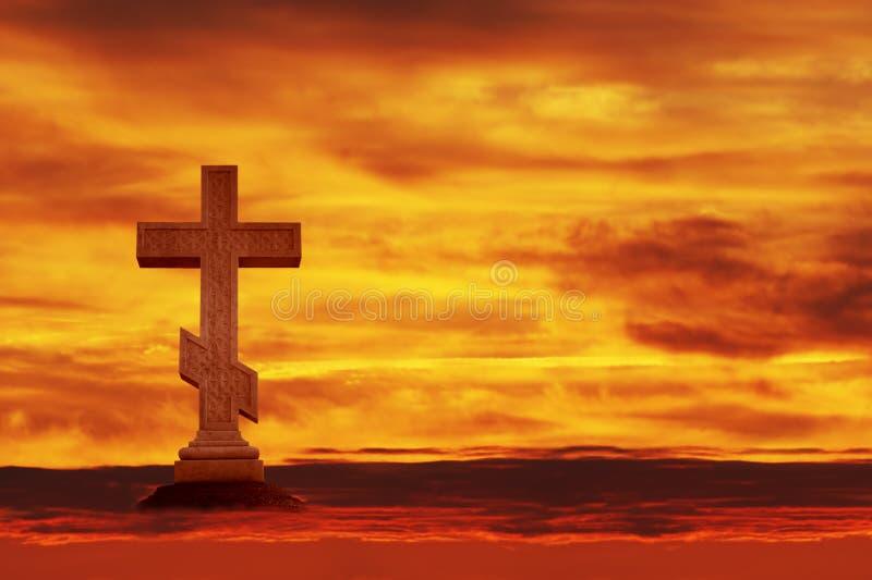 Kreuz im Himmel stockfotos