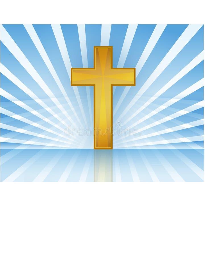 Kreuz im Himmel/im Vektor lizenzfreie abbildung