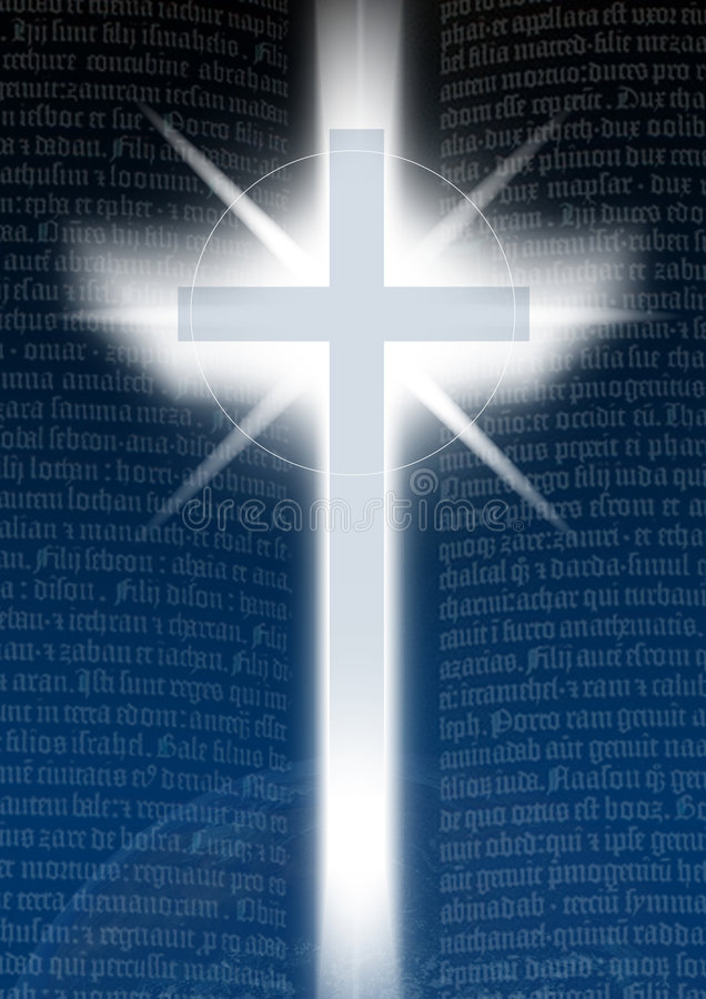 Kreuz mit Bilble Text lizenzfreie abbildung