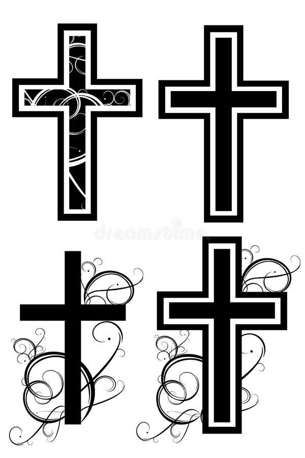 Kreuz mit Grafik vektor abbildung