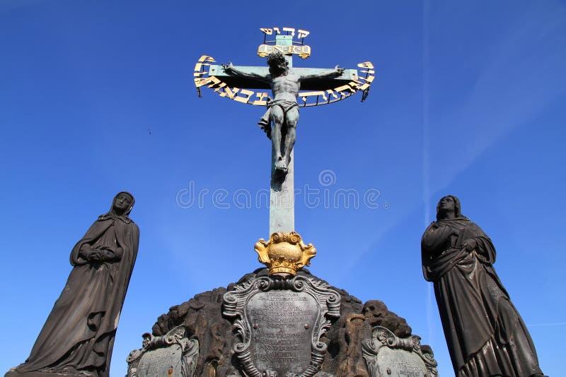 Kreuz in Prag stockfoto
