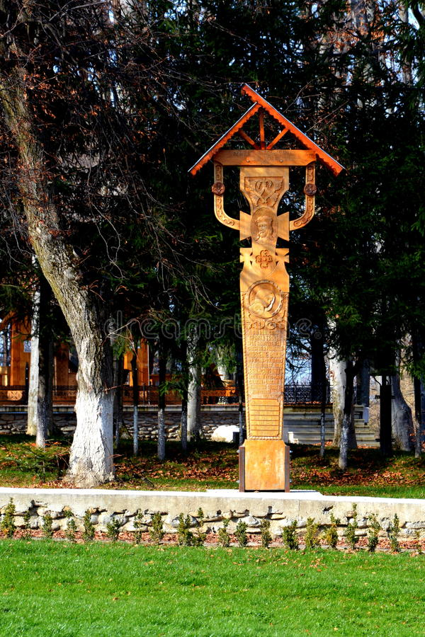 Kreuz in Sambata-Kloster, Fagaras stockfotos