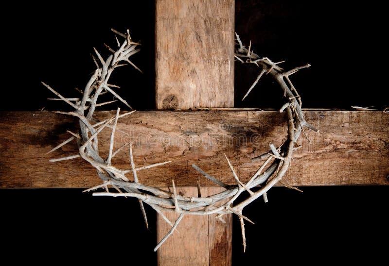 Kreuz und Krone stockfotografie