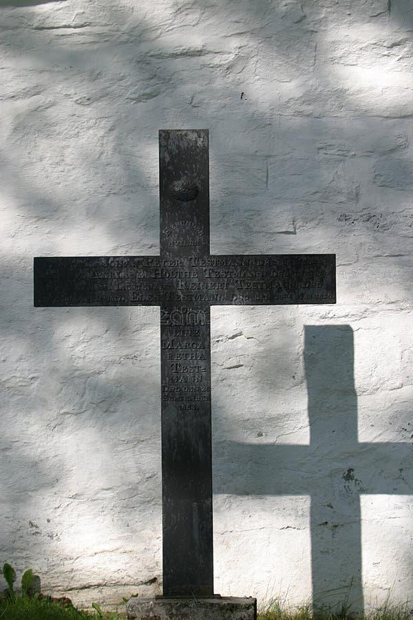 Kreuz und sein Schatten stockfotos