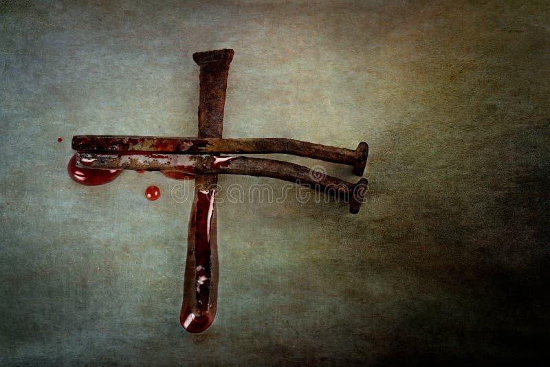 Kreuz von Nägeln lizenzfreies stockbild
