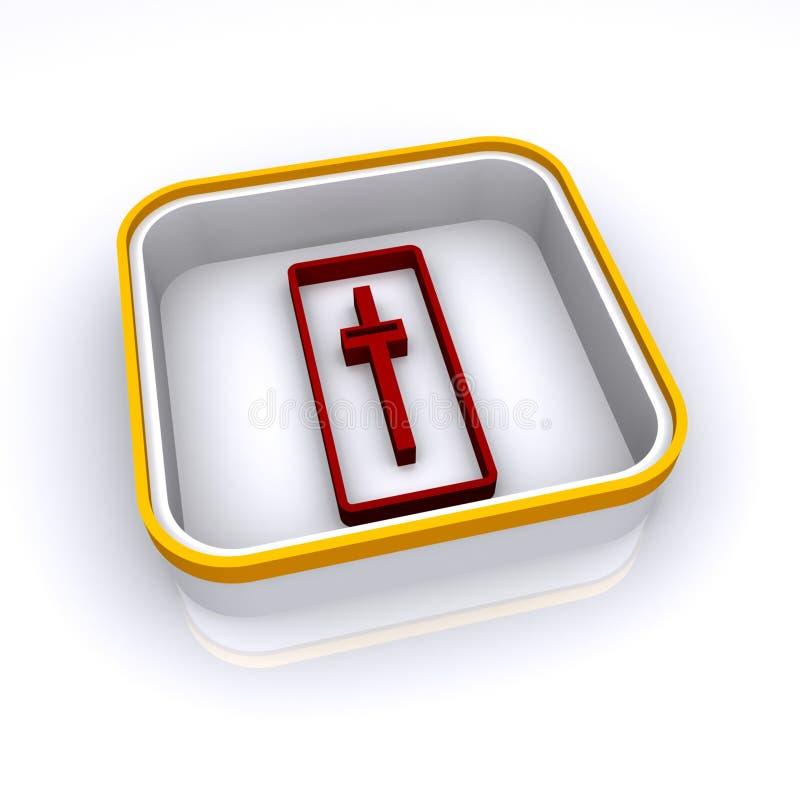 Download Kreuzabbildung stock abbildung. Illustration von farbe - 12201648