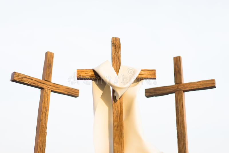 3 Kreuze in einer Stadt lizenzfreies stockbild